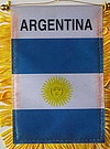 Argentina Flag Window Hanger, car flag argentina