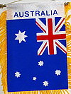 Australia Mini Car flag, Window Hanger fringed Australia