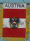 Austria Mini Car Flag, Window Hanger Austria,m Oesterreich auto hanger
