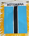 Botswana Car flag, window hanger fringed botswana