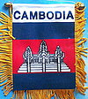 Cambodia Window Hanger Mini Car flag Cambodia, Kambodscha fahne
