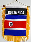 Costa Rica Car flag, mini banner costa rica, autofahne costa rica