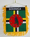 Dominica Mini banner, Autofahne Diminica, Car flag