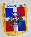 Dominican Rep. Mini Flag banner, autofahne dominican republic