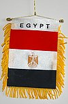 Mini banner Egypt, fringed flag egypt, autofahne egypten