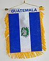 Guatemala Mini car flag, window hanger guatemala, autofahne