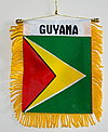 Guyana Mini Banner, Window display flag, autofahne guyana