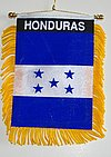 Honduras Window Hanger, Car flag mini