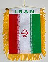 Iran Mini car flag, autofahne iran, mini fringed banner iran