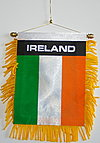 Ireland mini fringed banner, autofahne ireland, car flag ireland