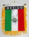 Mexico mini car flag, Autofahne Mexiko, windohanger mexico