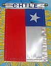 Chile Auto fahne, car flag chile,window hanger chile