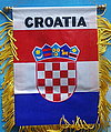 Croatia mini banner, croatia car flag, Kroatien Auto fahne