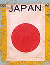 Japan mini car flag, autofahne japan
