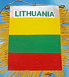 Lithuania mini car flag, autofahne litauen, fringed banner of Lithuania