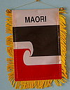 Maori mini car flag, autofahne maori, mini fringed banner of maori people