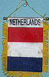 Netherlands mini car flag, window hanger netherlands, holland autofahne, dutch mini flag