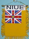 Niue Mini car flag, window hanger niue, niue country flag