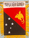 Papua New Guinea mini banner, PNG car flag, papua new guinea autofahne