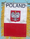 Poland window hanger, minifringed car flag, autofahne poland