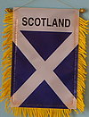 Scotland mini car bnner, fringed window hanger of Scotland, autofahne scotland