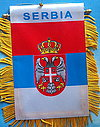 Serbia mini car banner, window hanger serbia, autofahne serbien