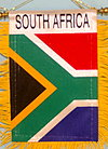 South Africa mini car banner, fringed banner south africa, autofahne Suedafrika