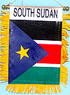 South Sudan mini banner, fringed banner south sudan, car flag south sudan, Autofahne Sued Sudan