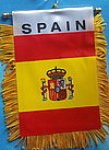 Spain mini fringed banner, spain car flag, Spanien Aufo fahne