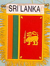 Sri Lanka fringed banner, mini car flag sri lanka, Autofahne sri lanka