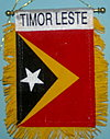 Timor Leste car flag, east timor fringed car banner, flag banner