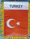 Turkey mini banner, flag baner turkey, car flag turkey, autofahne turkei