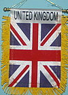 United Kingdom mini flag banner, car flag, autofahne united kingdom, great britain car flag