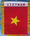 Vietnam fringed car banner, country flag vietnam mini, mini autofahne vietnam
