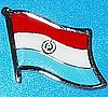 Paraguay Flag Pin, Anstecknadel flagge
