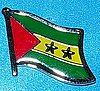 Sao Tome & Principle Flag LApel Pin