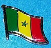 Senegal Flag Lapel Pin, Hat Pin, Badge