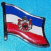 Serbia Flag Pin, Flag Badge Serbia, Hat Pin Serbia