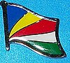 Seychelles Flag Pin, Hat Pin, Flag Badge Seychelles