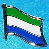 Sierra Leone Pin, Flag Badge Sierra Leone, Hat Pin Sierra Leonne