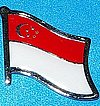 Singapore Flag Badge, Flag Lapel Singapore, Hate Pin Singapore