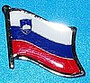 Slovenia Flag Pin, Badge Slovenia, Flag Hat Pin Slovenia