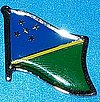 Solomon Islands Pin, Hat Pin Solomon Isl. Badge Solomon Islands