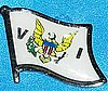 US Virgin Island Hat Pin, American Virgin Island Flag Badge, Anstecknadel, Amerikanische Virgin Iseln