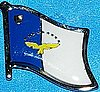 Azores Flag Lapel Pin, Azores Flag Badge, Azores Anstecknadell, Azores Hut Pin