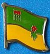 Saskatchewan Pin, Canada Provincal Flag Pin, Flag Badge, Anstecknadel, Hut Pin