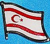 Cyprus North Flag Pin, Northern Cyprus Flag Pin