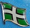 Devon Flag Pin, England County Pin