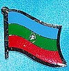 Karachay Cherkessia Flag Badge, Hat Pin, Anstecknadel Russicher staat Karachay