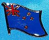 New Zealand Flag Pin, Anstecknadel Neuseeland